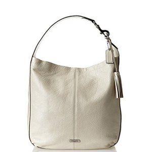 Coach Avery Pearl Leather Large Hobo Shoulder Bag